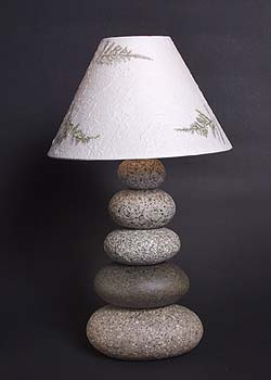 Tall Cairn Lamp
